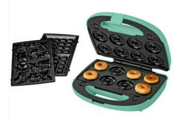 Мультимейкер - вафельница, печенница, пончница SilverCrest 3 в 1 Swew 750 B3 Бирюзовый
