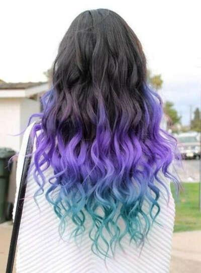 Синтетические цветные волосы на трессе
