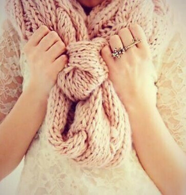 Теплый шарф...)