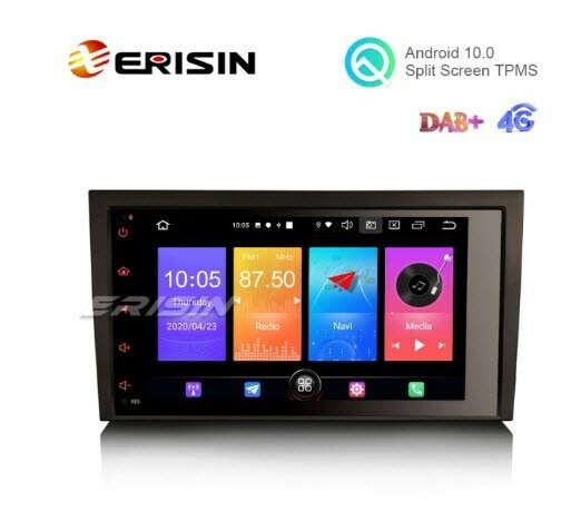 "Erisin ES2778A 8"" Android 10.0 Car Stereo GPS Carplay+ DAB+ 4G for Audi A4 S4 SEAT EXEO - Erisinworldwide"
