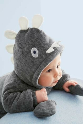 Теплый костюм динозавра