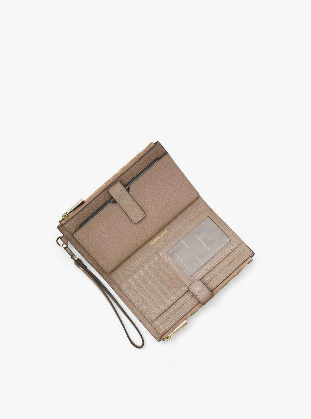 Adele Pebbled Leather Smartphone Wristlet