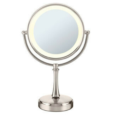 Touch Control Lighted Mirror - Satin Nickel