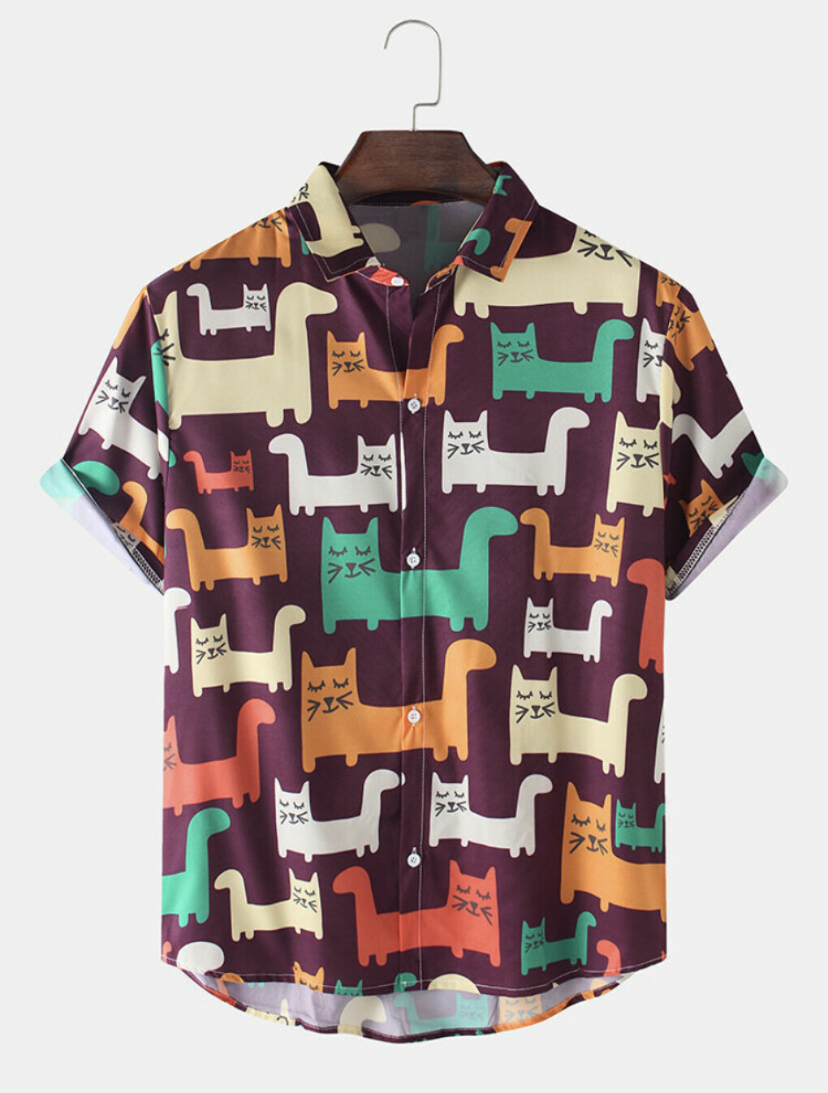 Designer CHARMINER Mens Funny 3D Рубашка