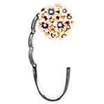 Крючок брелок для сумки Цветы белые