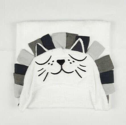 Хлопковое полотенце с капюшоном для новорожденных