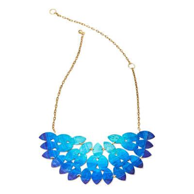 Синее колье Ocean kiketta, из коллекции Pigment