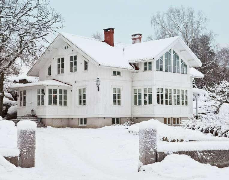 уютный большой дом