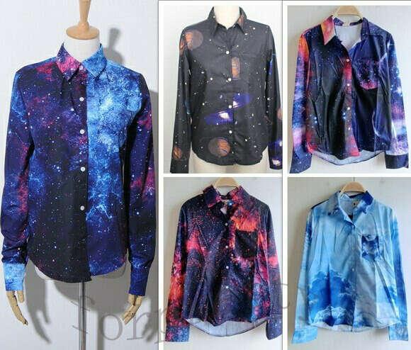 Рубашки с космосом