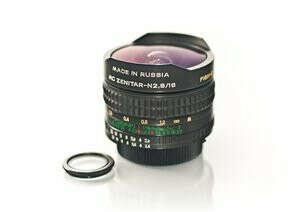 Объектив Зенитар-М 16мм + кольцо для Canon-EOS