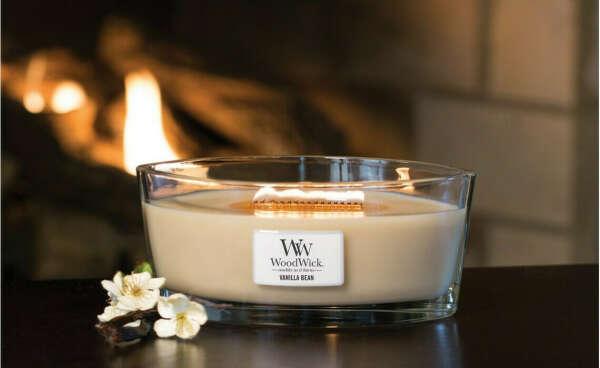 Свеча с деревянным фитилем
