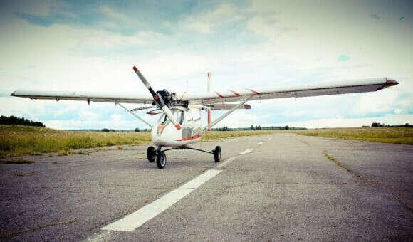 Учебный полет на самолете