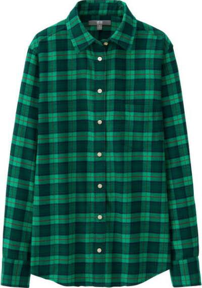 Зелёная клетчатая рубашка