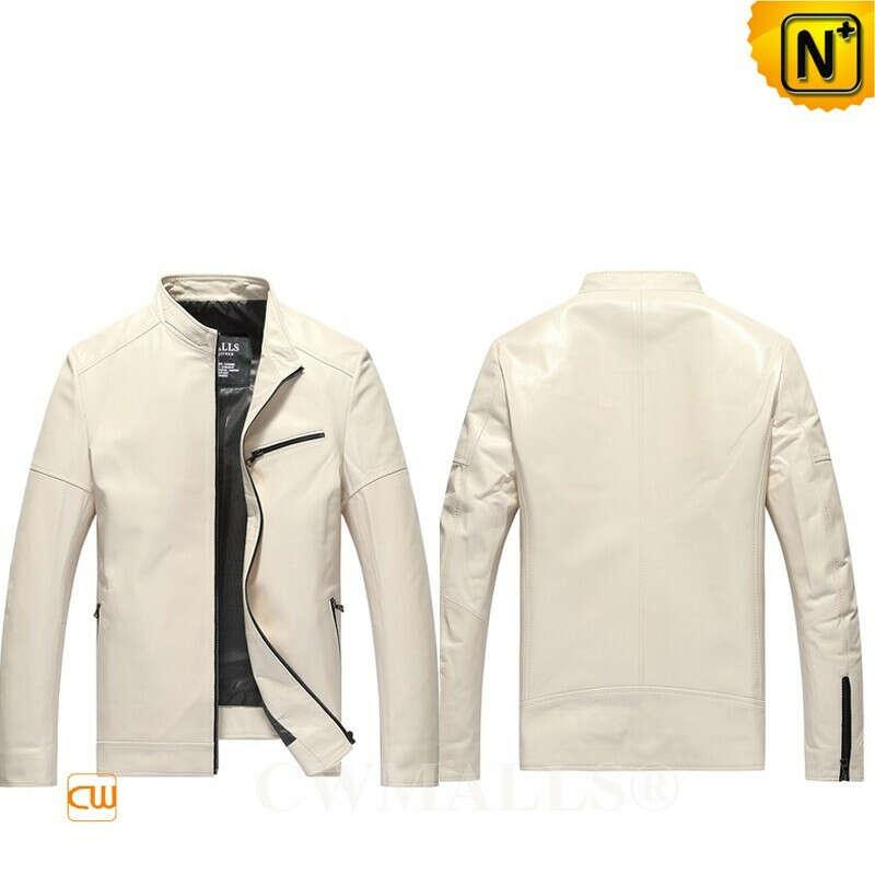 Men Leather Jackets | Mens Slim Fit Leather Jacket CW806053 | CWMALLS.COM