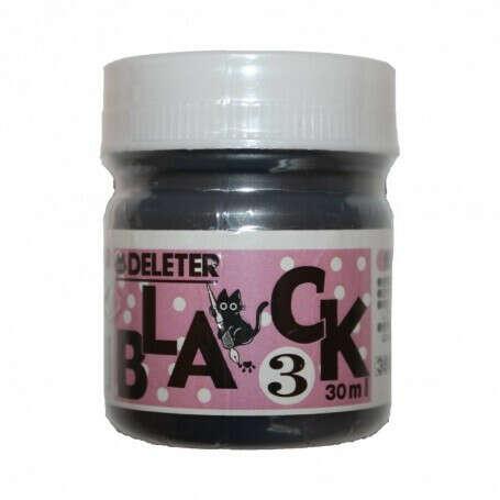 Черные чернила для манги и комиксов Deleter Black 3