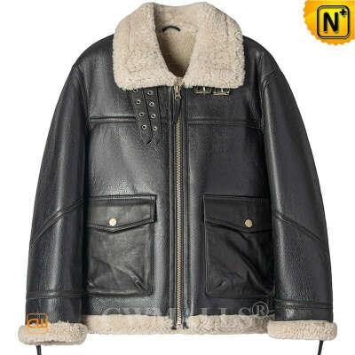 Sheepskin Jacket   Custom Sheepskin Flight Jacket for Men CW828669   CWMALLS®