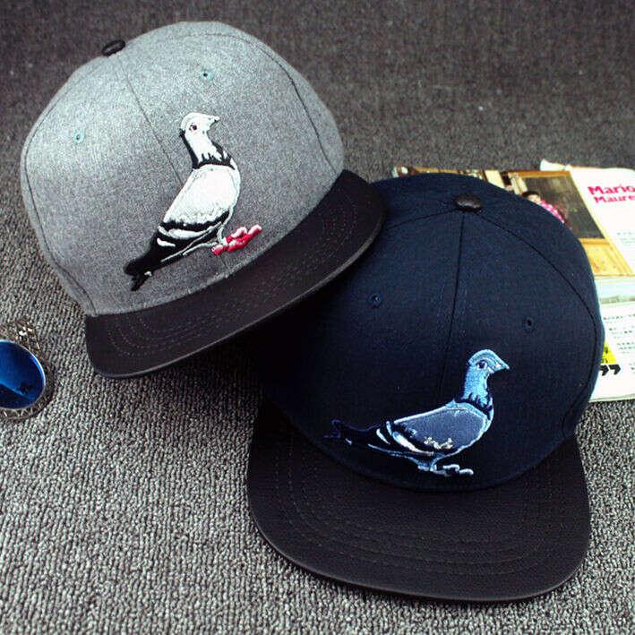 Мода птица бейсболка плоским шляпа спортивные шапки Snapback хип хоп шляпа шапка для мужчин и женщин № 38 купить на AliExpress