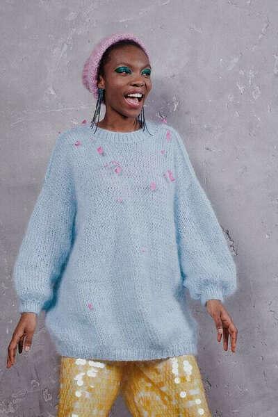 Объемный свитер evgrafovaclothes