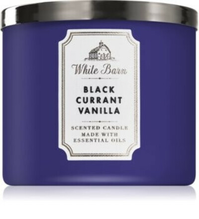 Bath & Body Works Black Currant Vanillascented candle