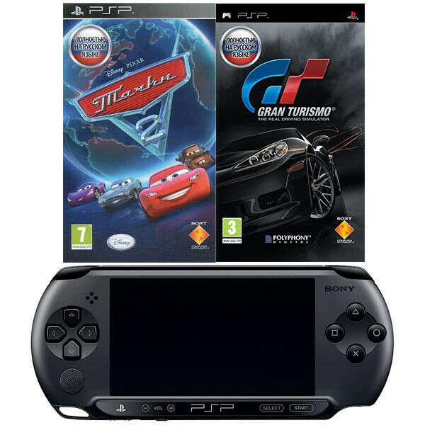 Sony E1008 Black + игры Gran Turismo и Тачки 2