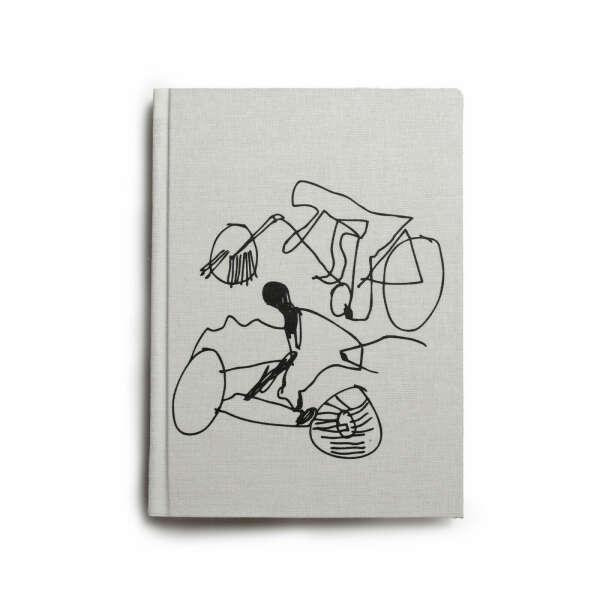 Блокнот с велосипедистами «Антон тут рядом«