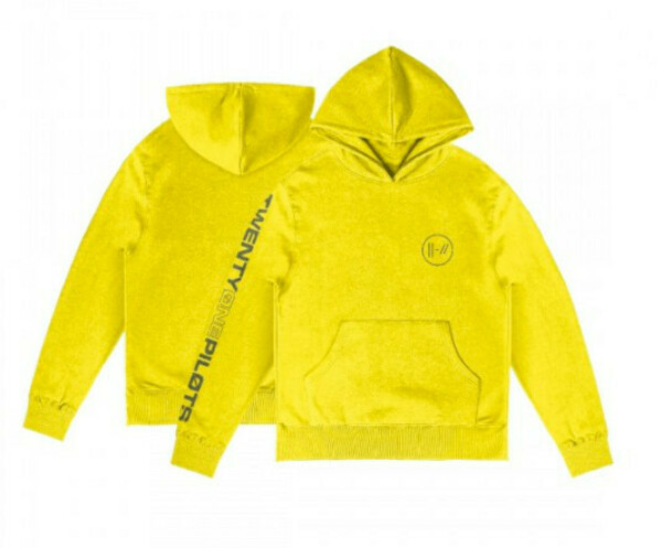 EMBROIDERED LOGO YELLOW HOODIE (S)