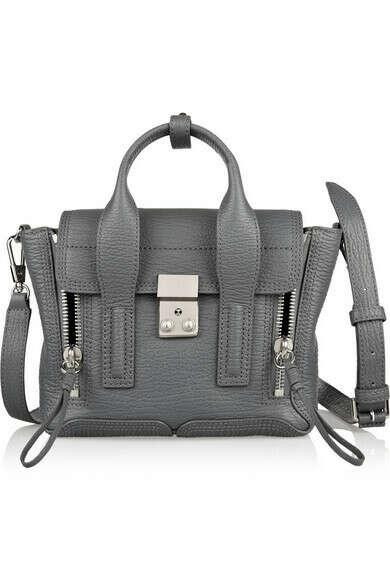 The Pashli mini textured-leather trapeze bag
