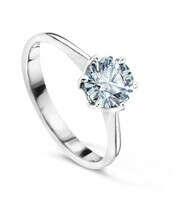 Кольцо с бриллиантами ,белое золото 585 пробы