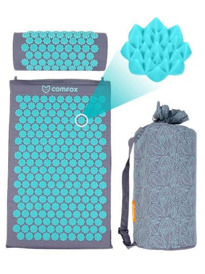 Массажный акупунктурный коврик с валиком, COMFOX