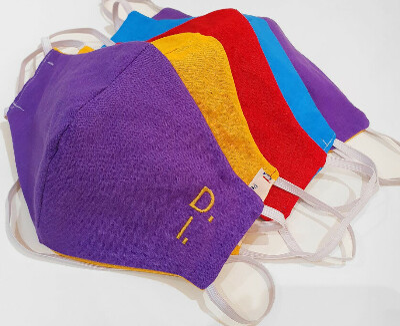 Mascherina per adulto tessuto cotone lavabile 100% alta qualità