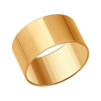 Широкое обручальное кольцо из золочёного серебра арт. 93010378