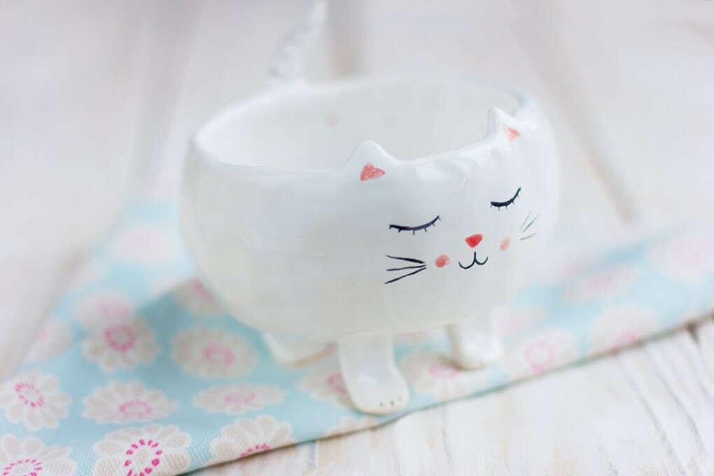 Кот Снежок. Керамика | «Ламбада-маркет»