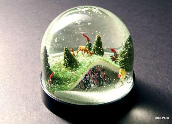 красивый снежный шар