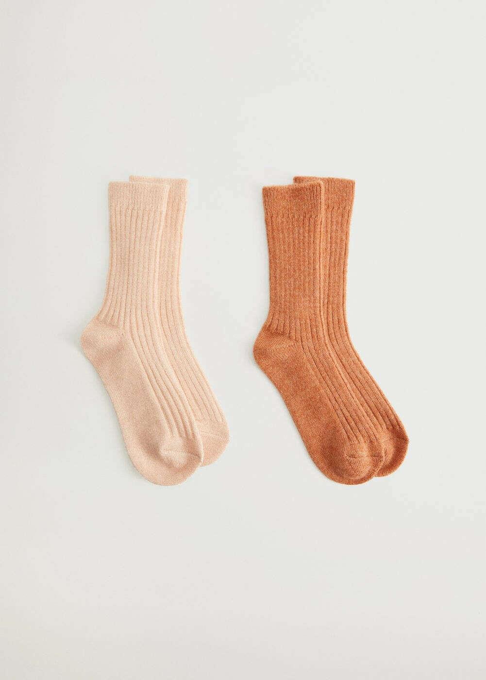 Две пары носков в рубчик -  Женская | Mango МАНГО Россия (Российская Федерация)