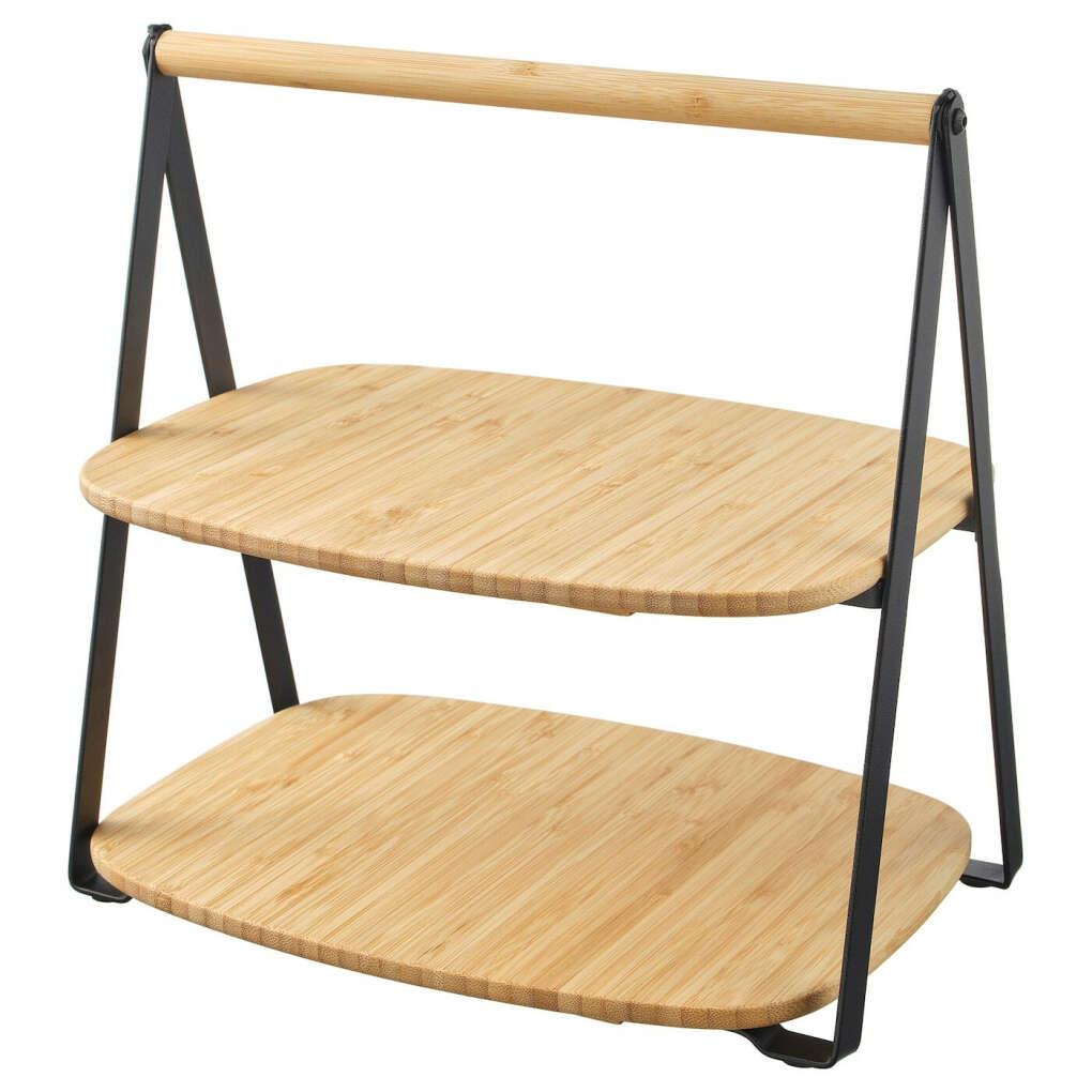ФУЛЛСПЭККАД Поднос сервировочный - бамбук, черный - IKEA
