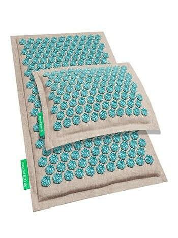 Pranamat Eco + подушка. Бирюзовый натуральный