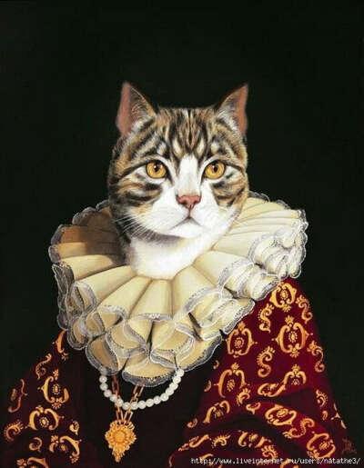 аристократический портрет моей кошки