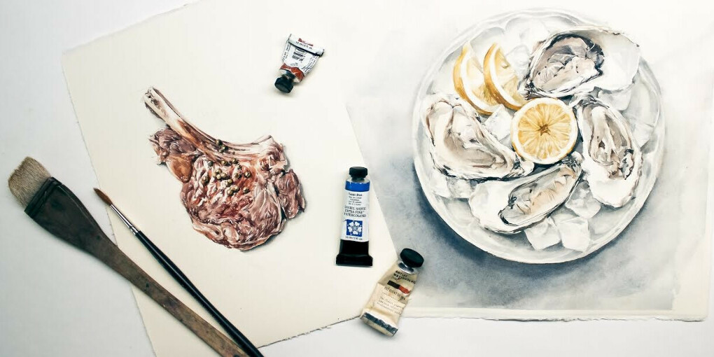 Мини-курс «Мясо и морепродукты» – Акварельная food-иллюстрация от Полины Ишхановой