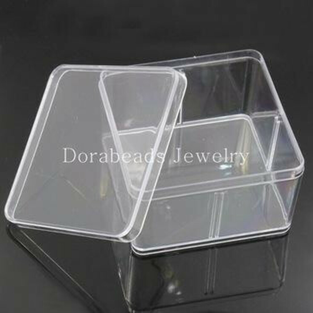 Storage Container Square Transparent 9.5x9.5cm