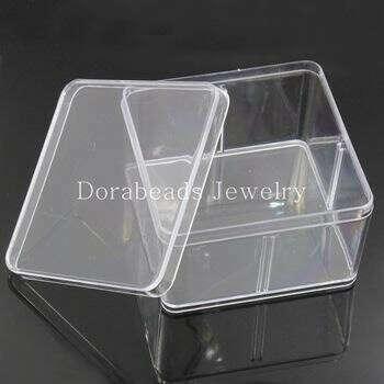Storage Container Square Transparent 9.5x9.5cm