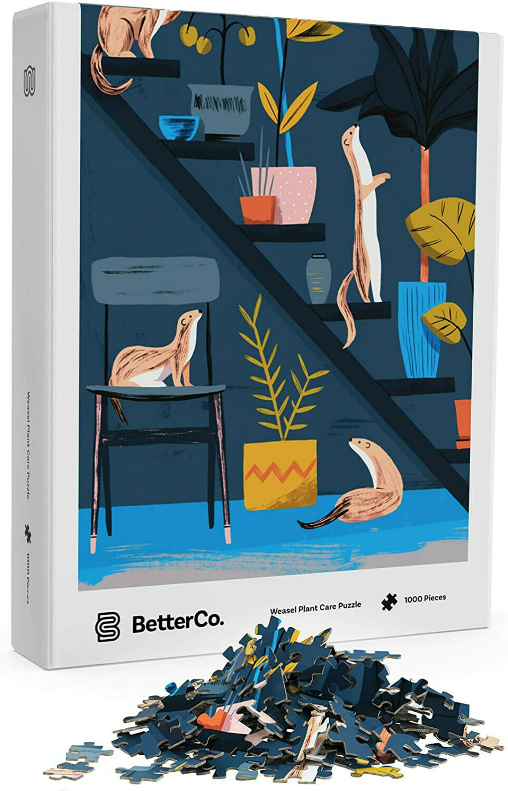 BetterCo. - Weasel Plant Care Puzzle 1000 Piece - Difficult Jigsaw Puzzles 1000 Pieces - Challenge Yourself with 1000 Piece Puzzles for Adults, Teens, and Kids