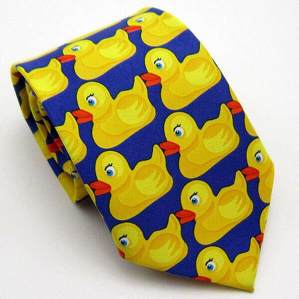 Высокое количество желтая резиновая утка галстук мужская мода свободного покроя необычные даки галстук 8 см даки светодиод галстуки