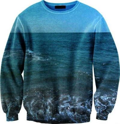 свитшот с принтом океана