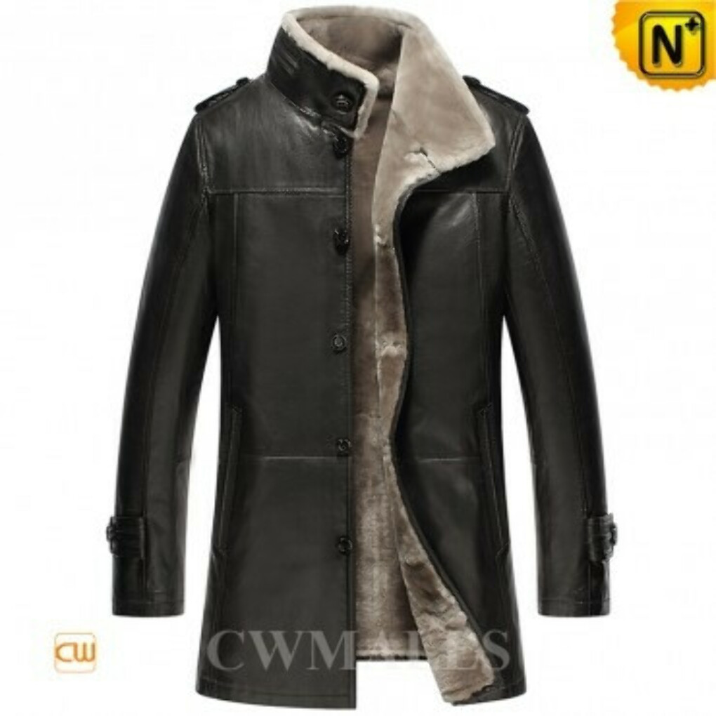 CWMALLS® Billings Shearling Lined Trench Coat CW858102