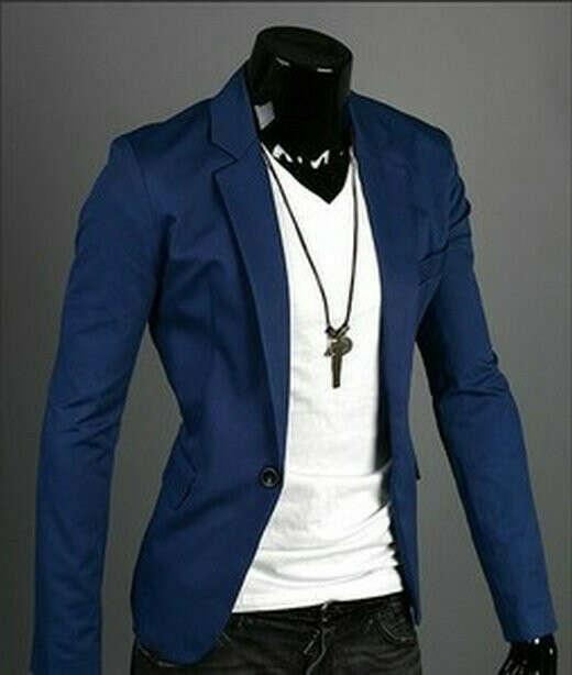 Хочу синий пиджак.