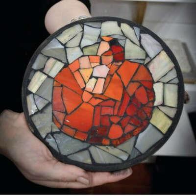 Мастер-класс по мозаике из витражного стекла