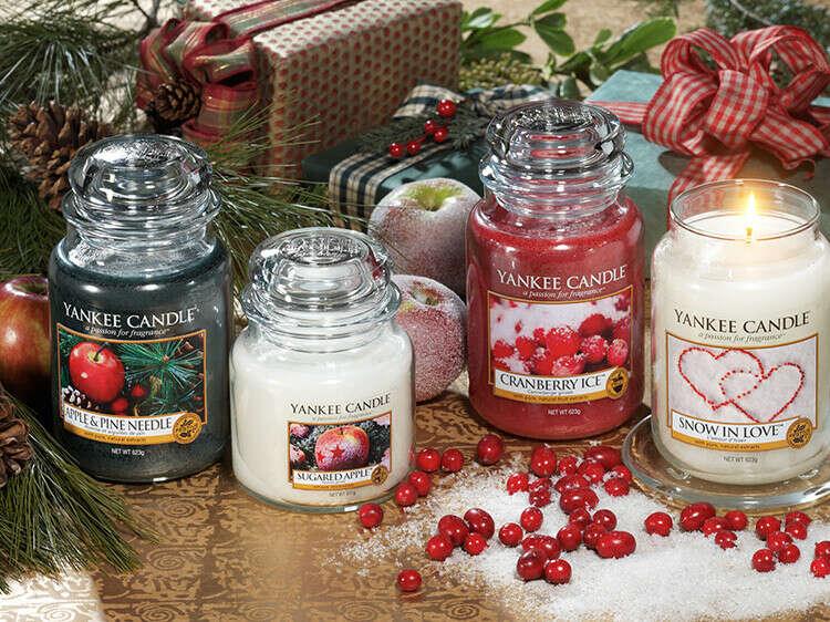 Рождественские ароматические свечи