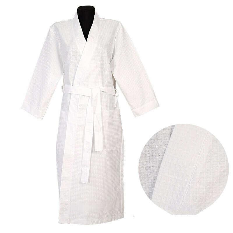 Білий вафельний халат