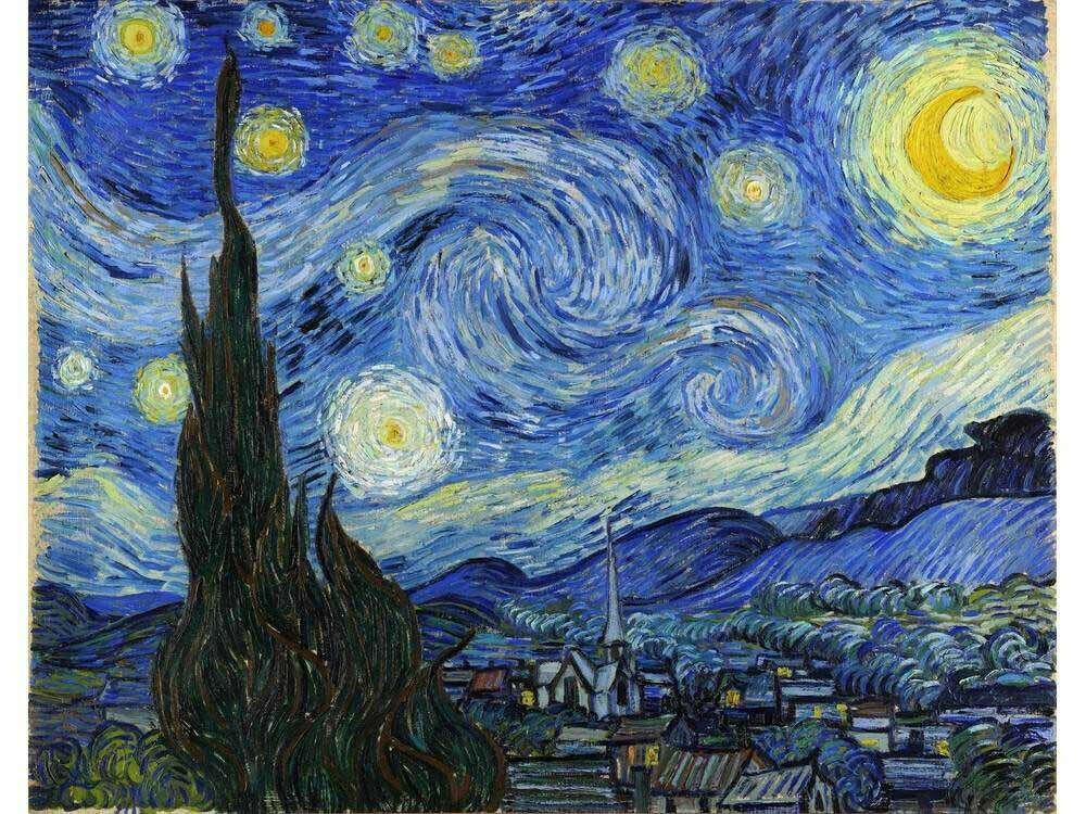 Картина по номерам «Звездная ночь» Ван Гога