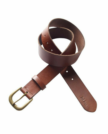 Простой кожаный ремень (коричневый)